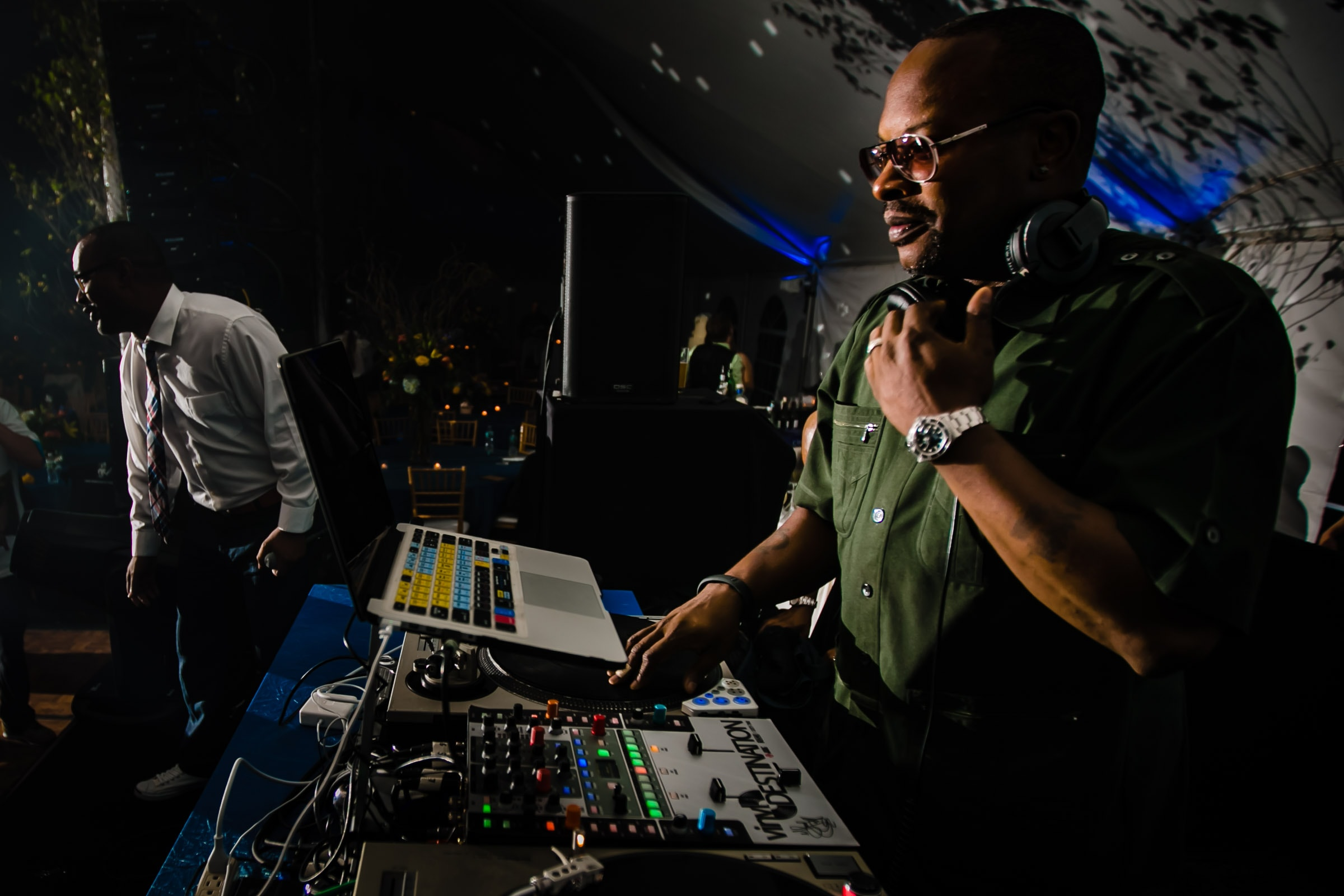 DJ JAZZY JEFF playing music at a Trapp Family Lodge wedding reception in Stowe, Vermont.