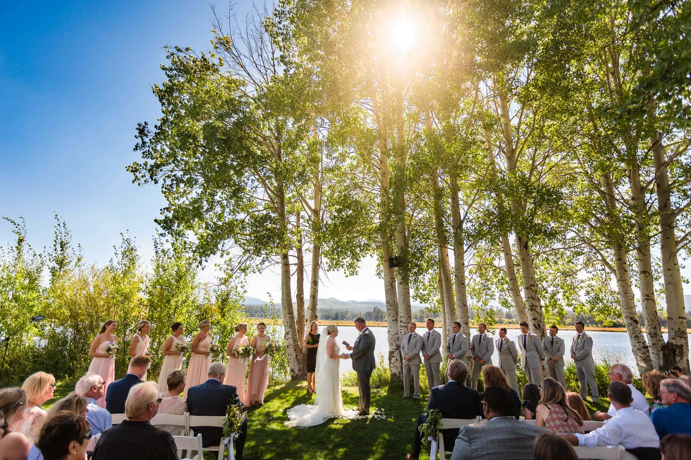 Gorgeous Black Butte Ranch wedding ceremony in Central Oregon