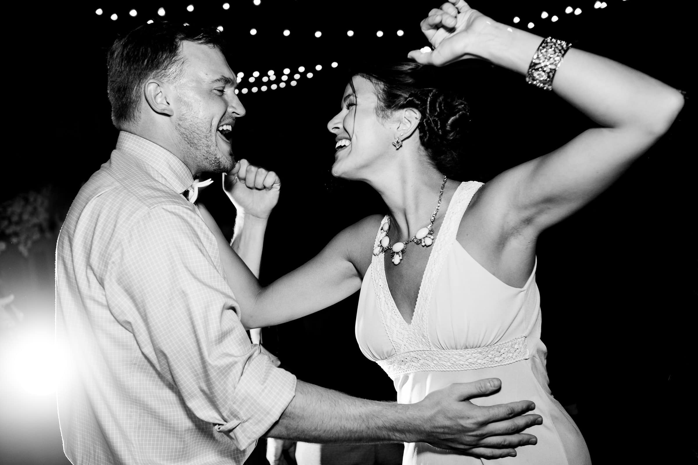 Epic dancing photo at a Black Butte Ranch wedding reception in Central Oregon