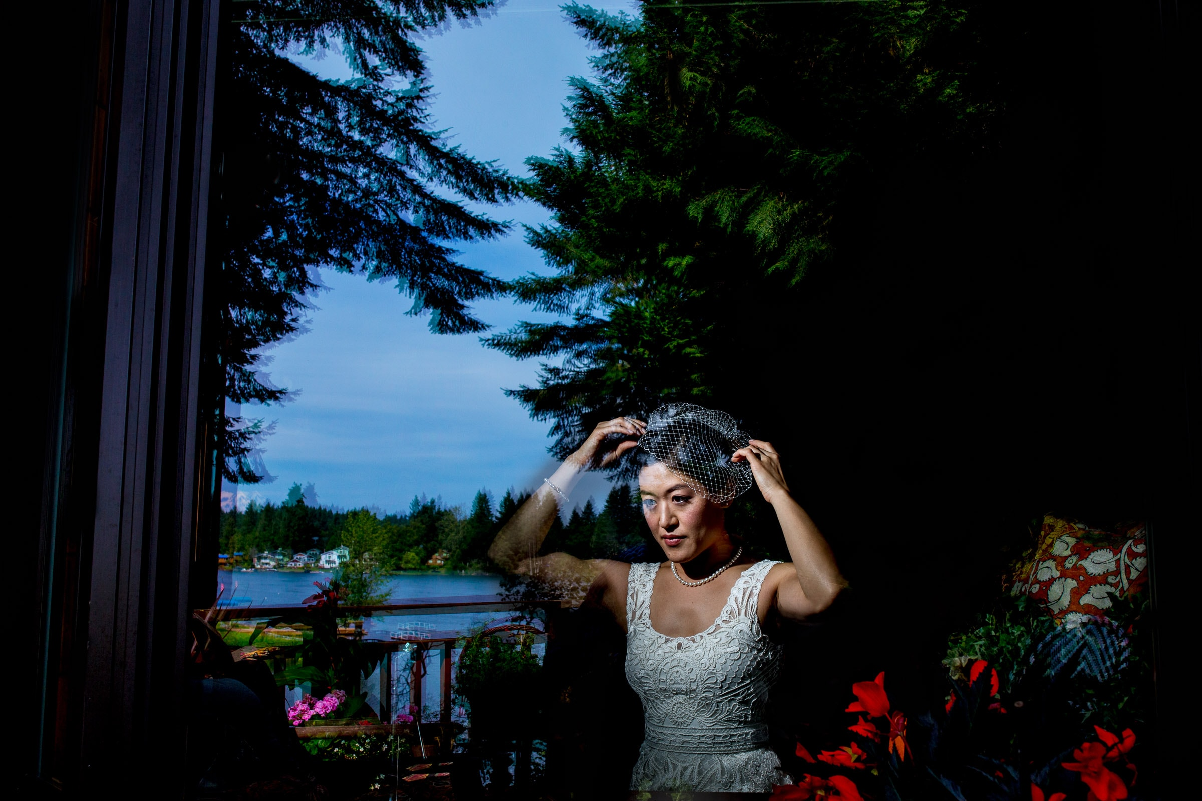 Bride getting ready for their Seattle elopement