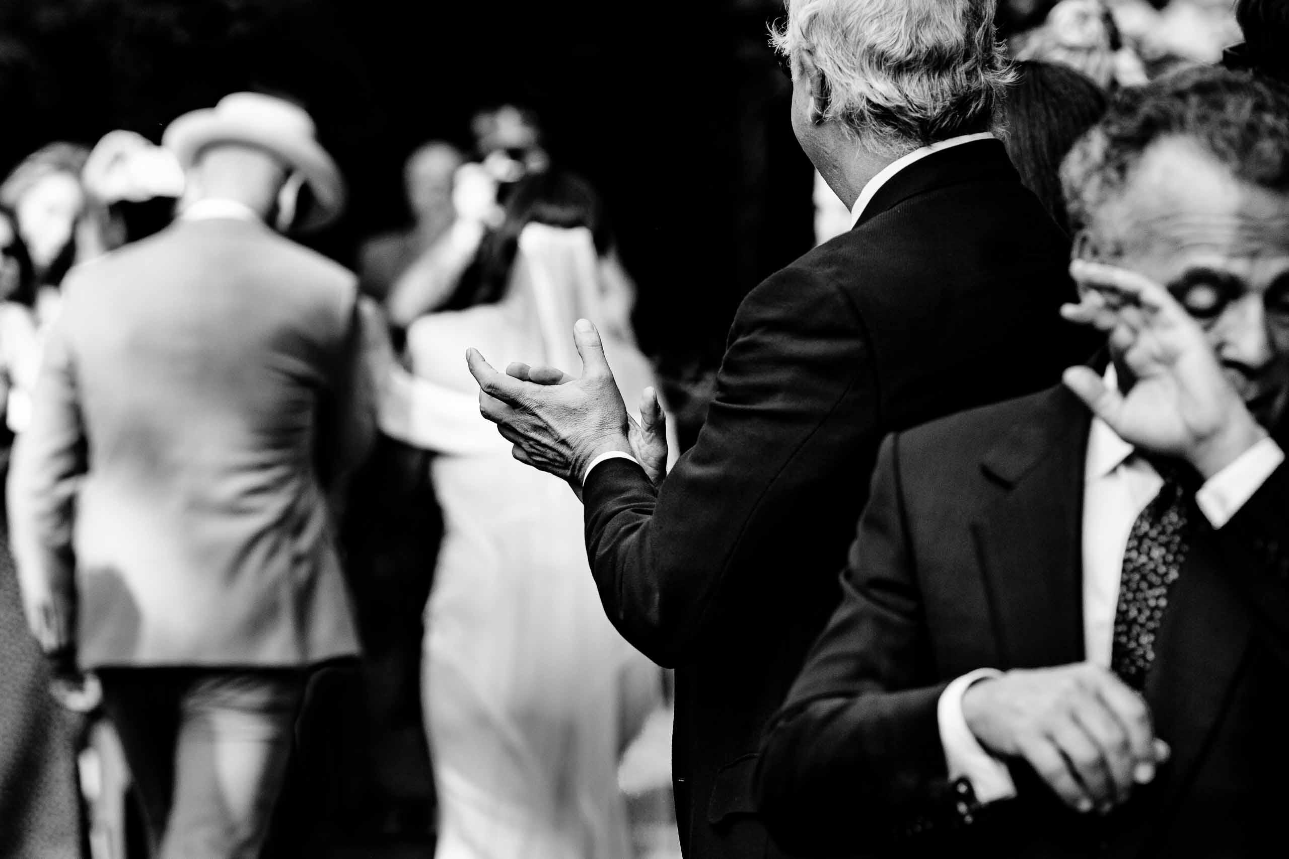Bride and groom emotionally exiting their Mt Hood Organic Farms Wedding ceremony