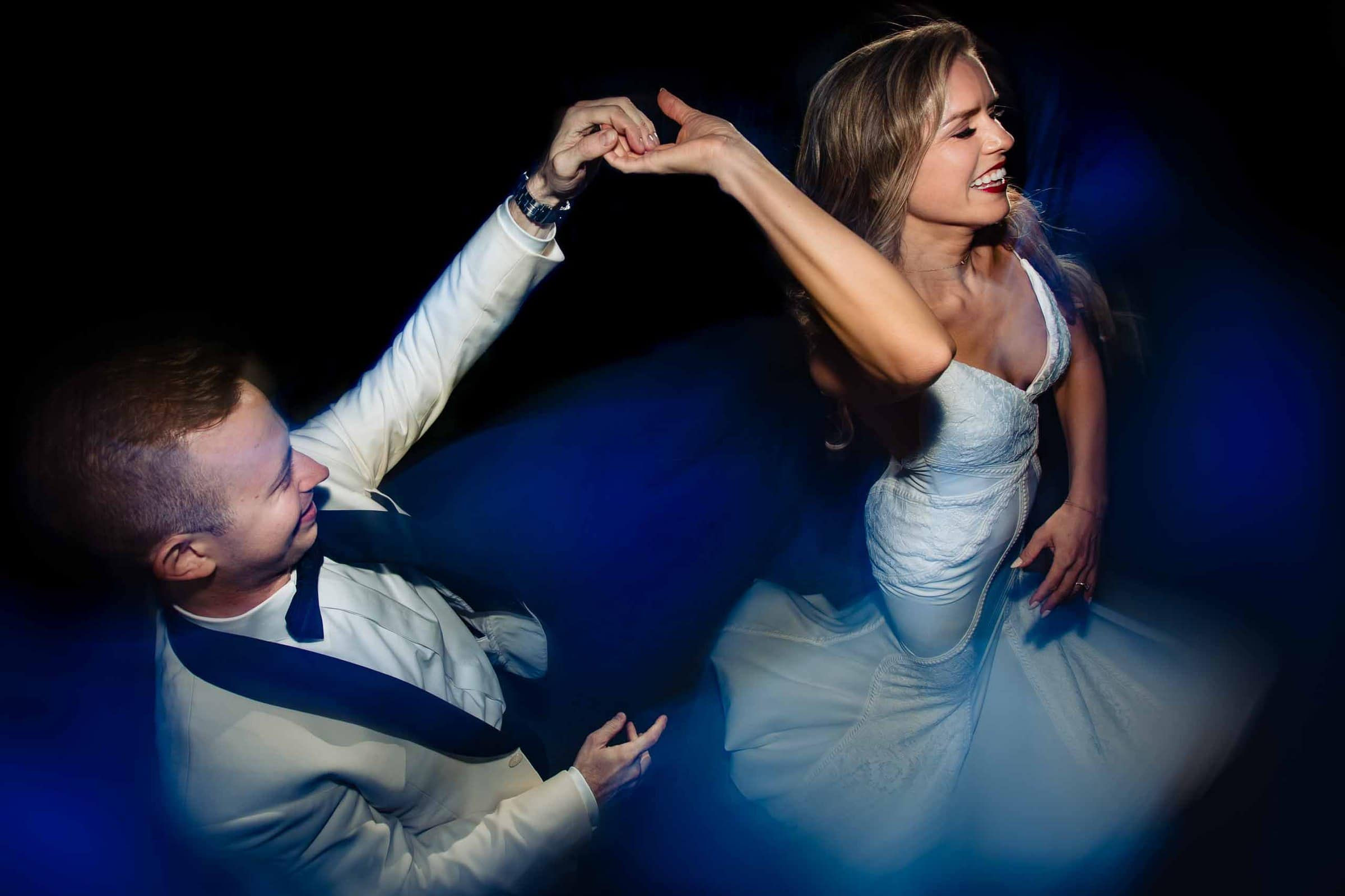 Beautiful bride and groom dancing during their Youngberg Hill wedding reception