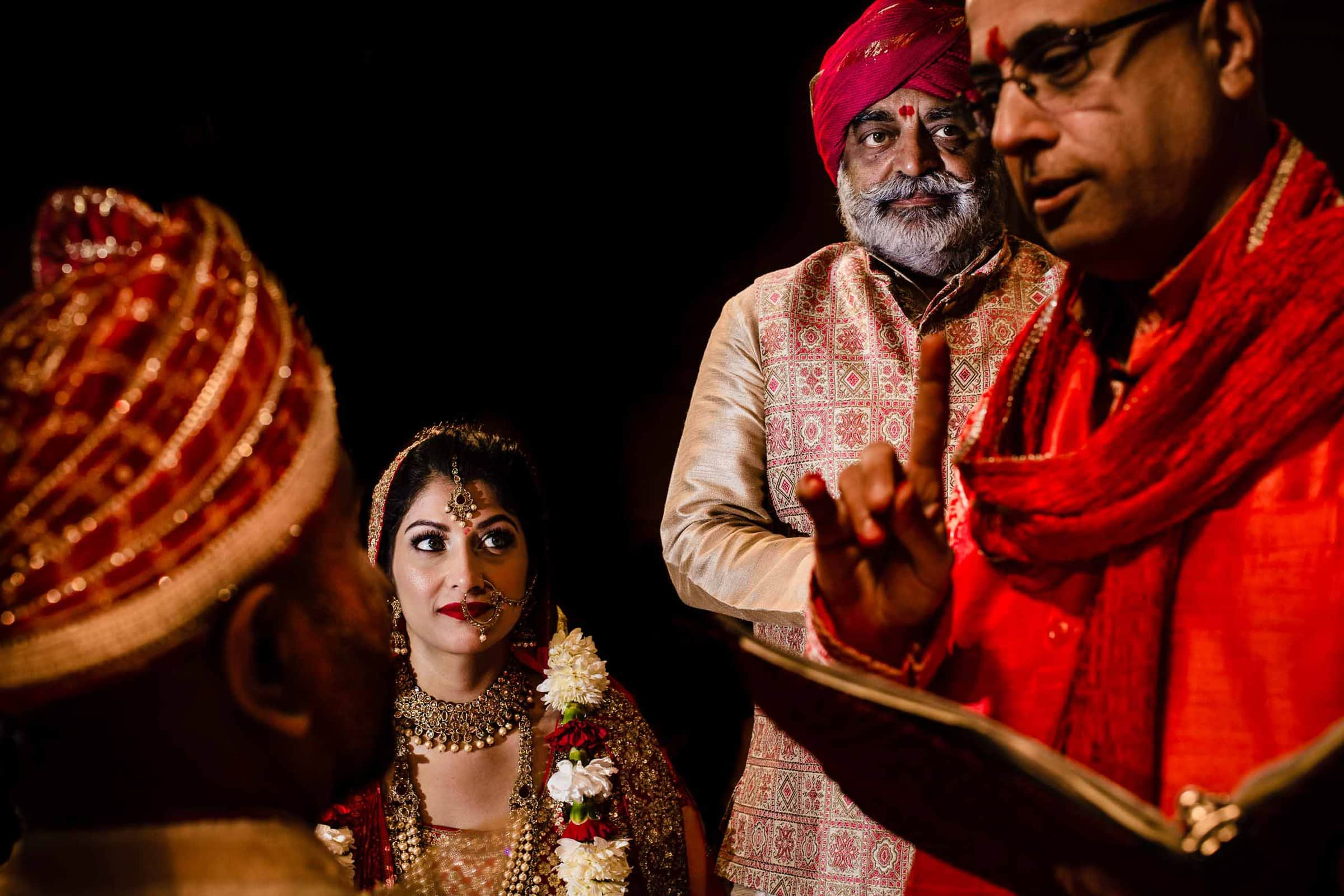Indian wedding ceremony at Portland Art Museum wedding