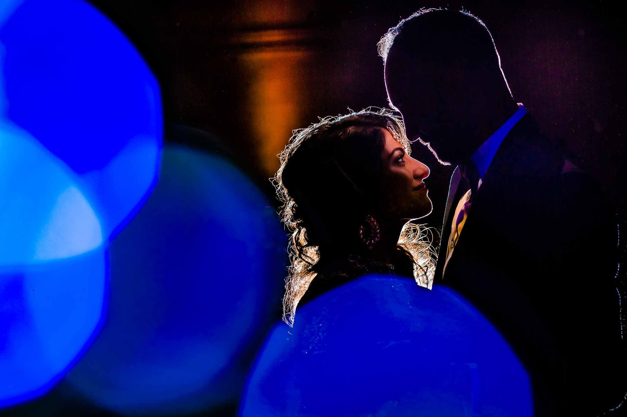 Epic dancing photo of Indian bride and groom during their Portland Art museum wedding.
