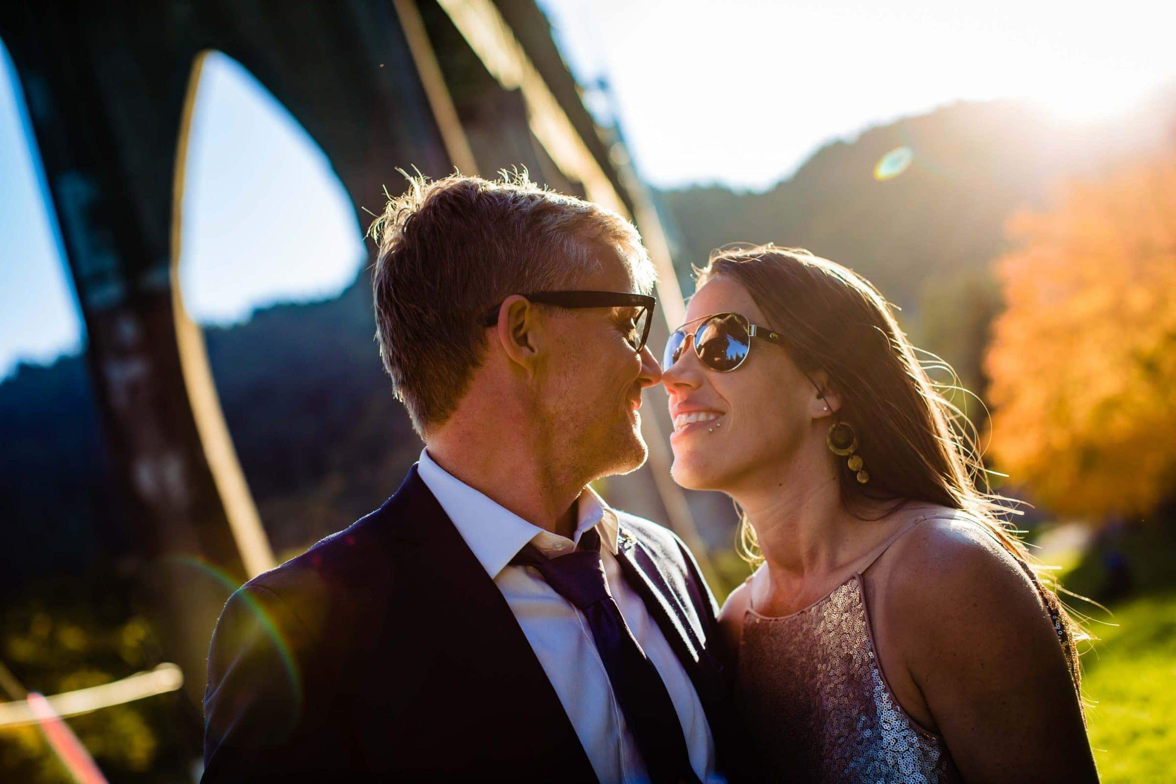 Gorgeous Cathedral Park elopement photo under the St. John's bridge in Portland Oregon