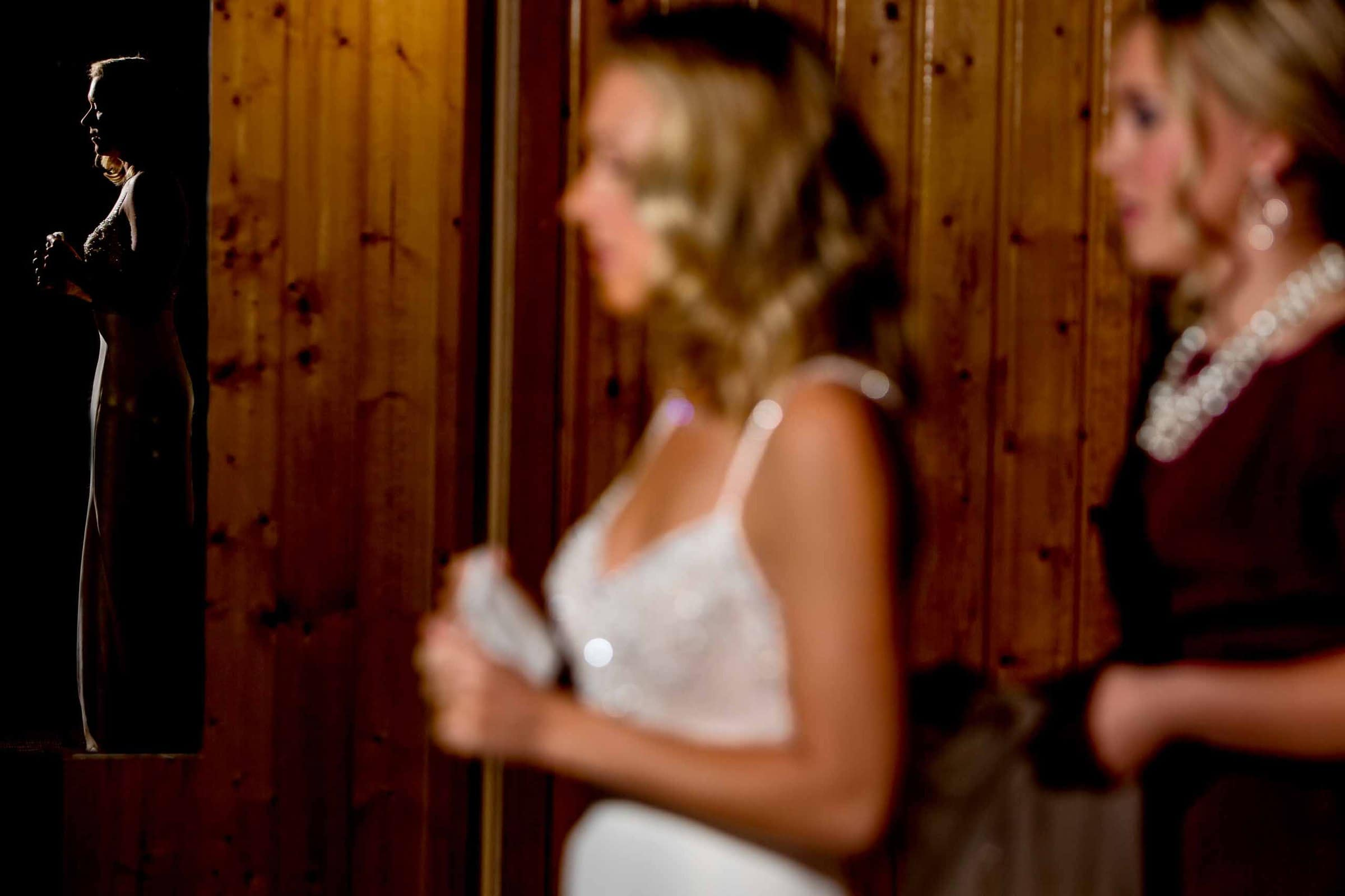 Bride getting ready before her House on Metolius wedding ceremony