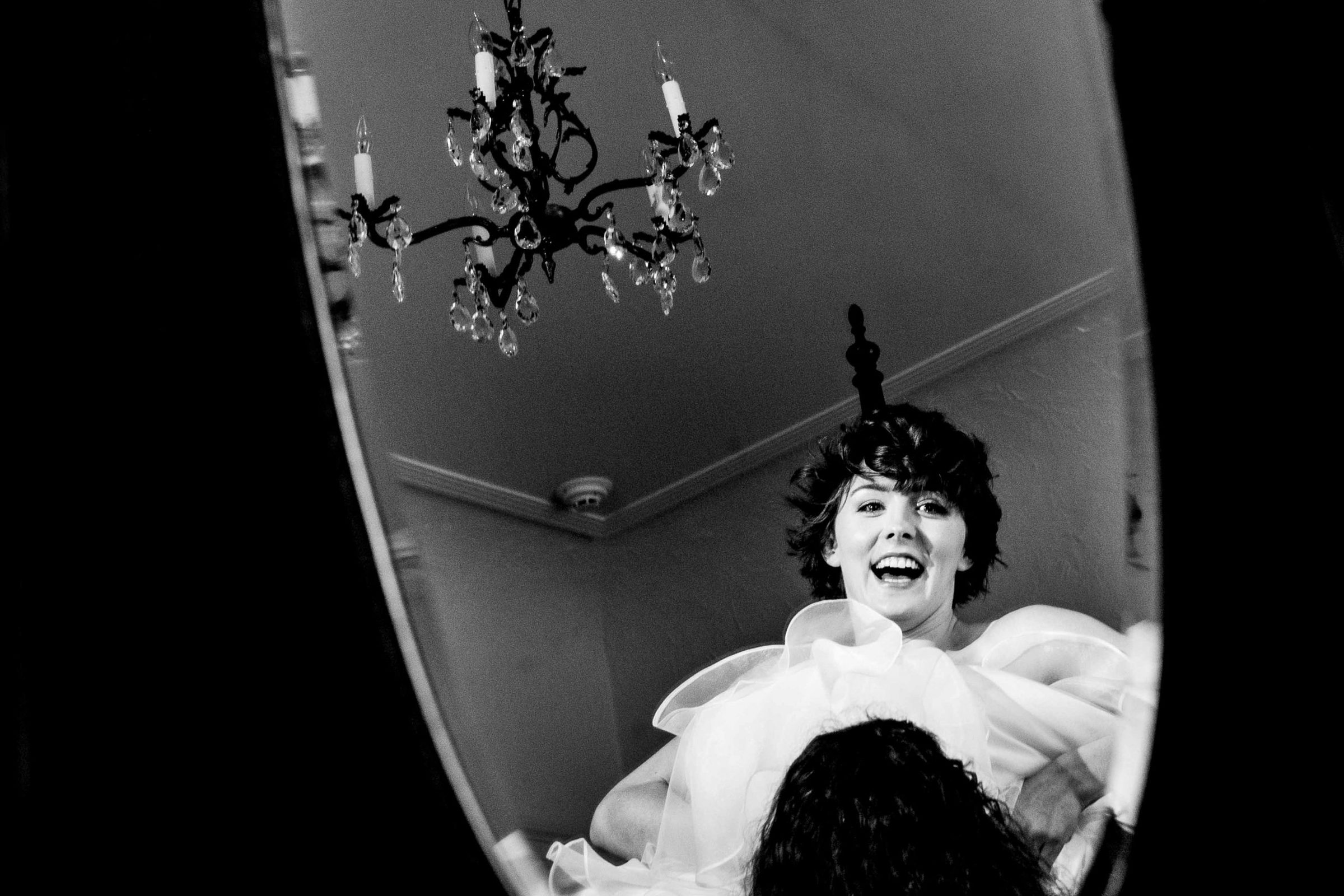 Bride getting ready for her Portland White House wedding.