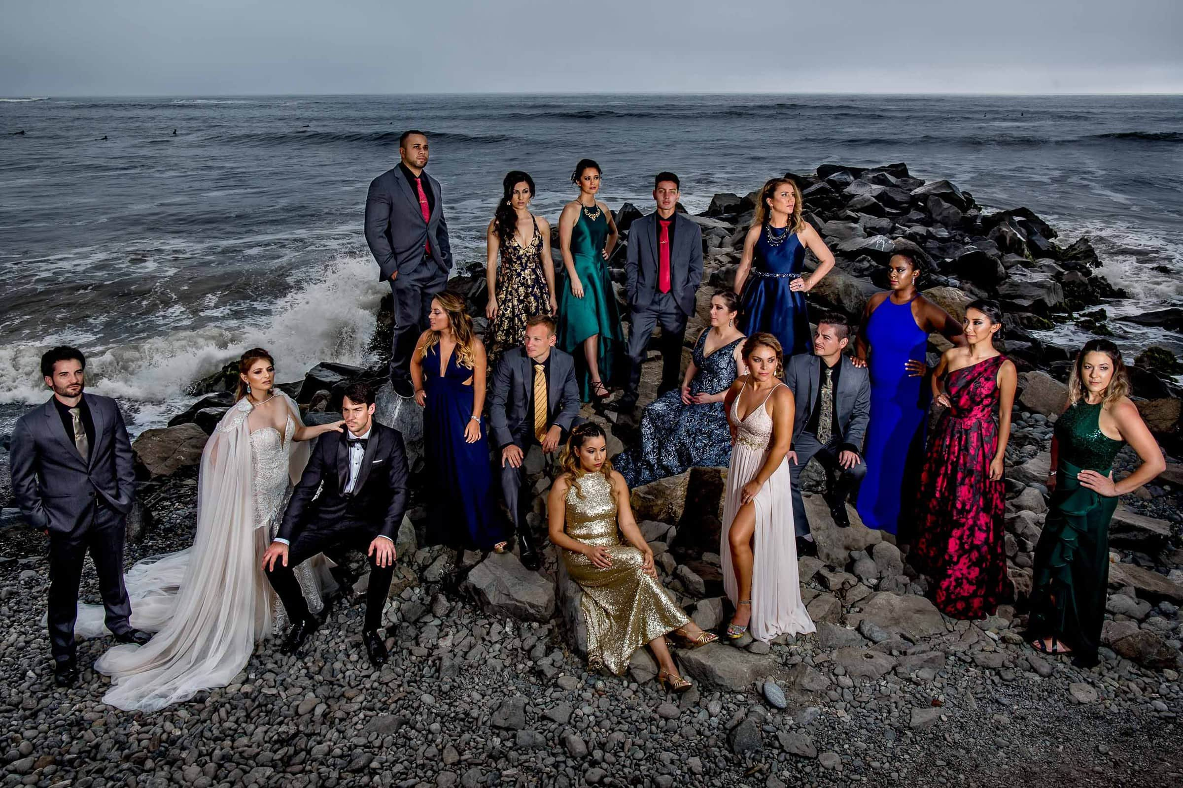 Game of Thrones portrait for an entire bridal party during a Lima Peru wedding