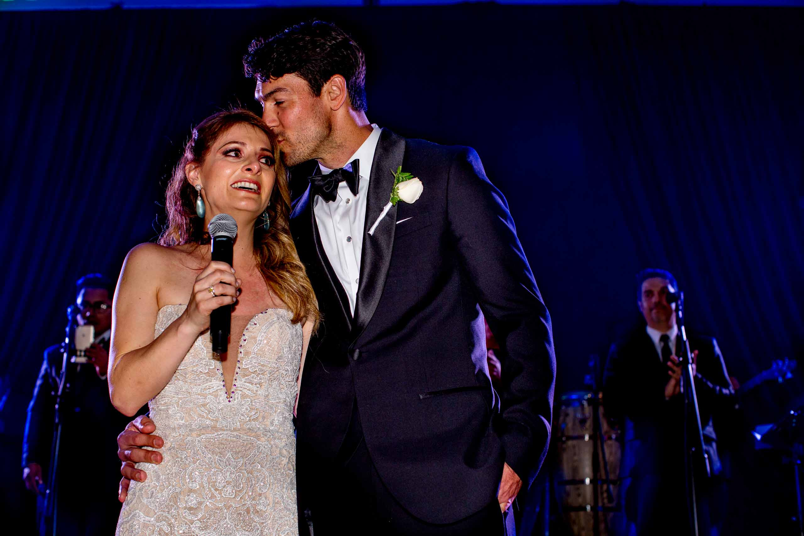 Bride and groom emotional speech during their Lima Peru wedding
