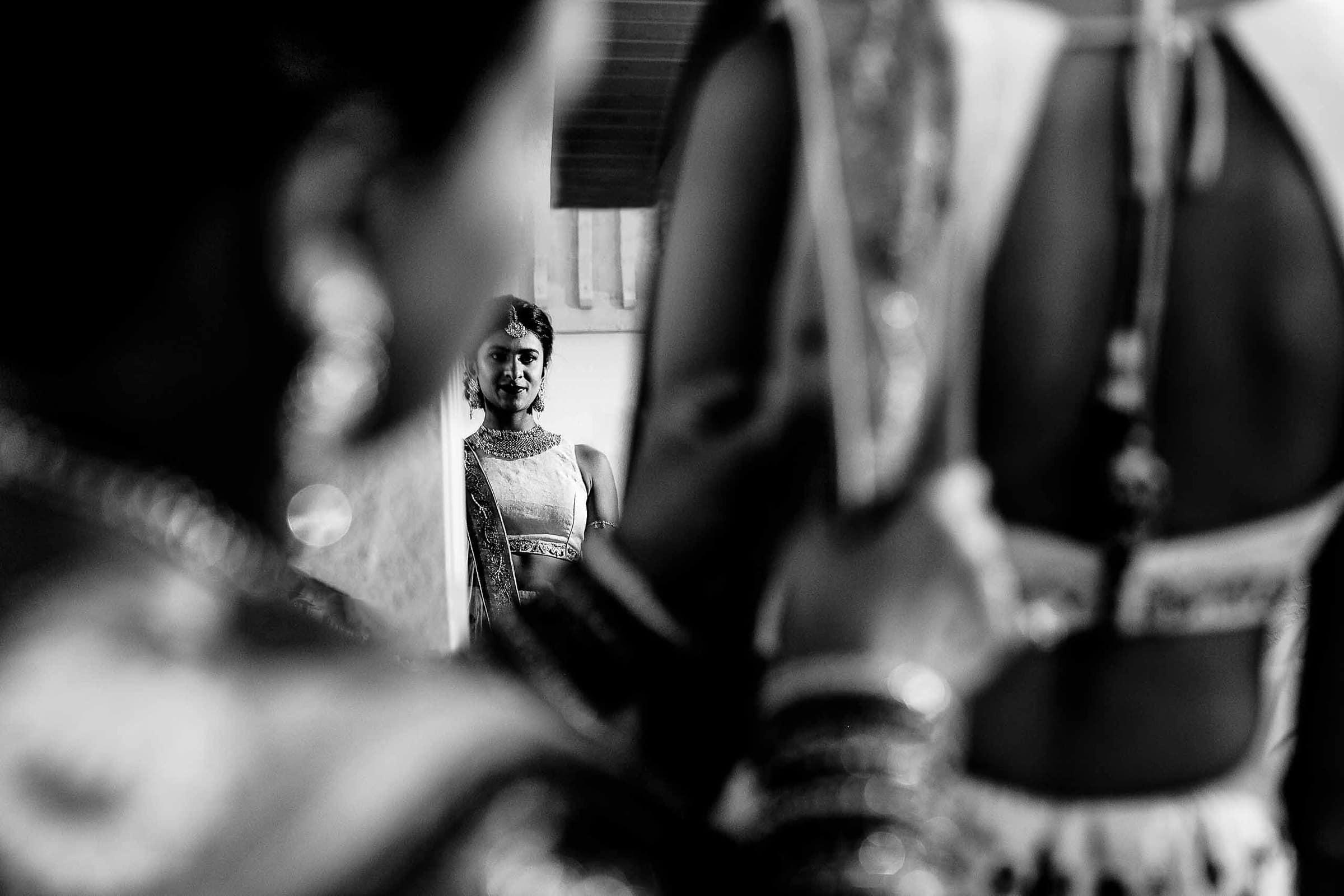 Indian bride getting ready for her Sunriver Resort wedding in Bend Oregon in Central Oregon.