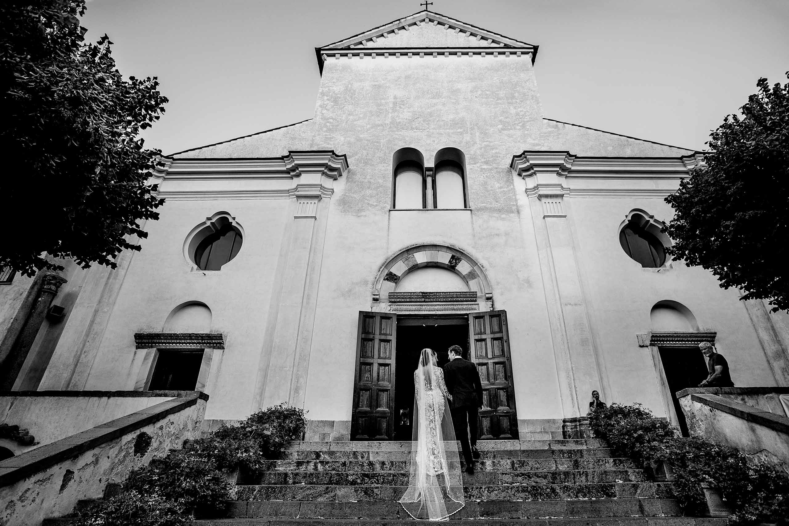 Stunning bride and groom photo at Villa Cimbrone for their Ravello elopement along the Amalfi coast in Italy.
