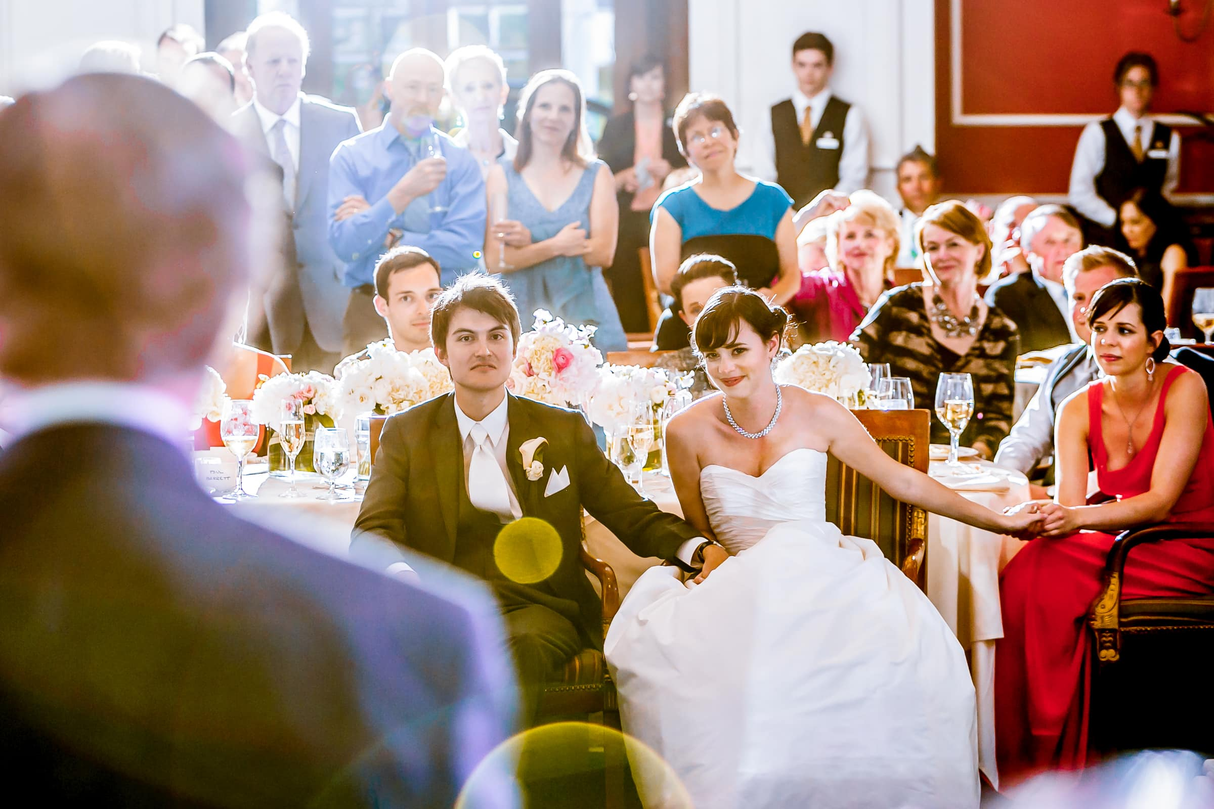 Emotional fathers speech to bride and groom during their Waverley Country Club wedding reception