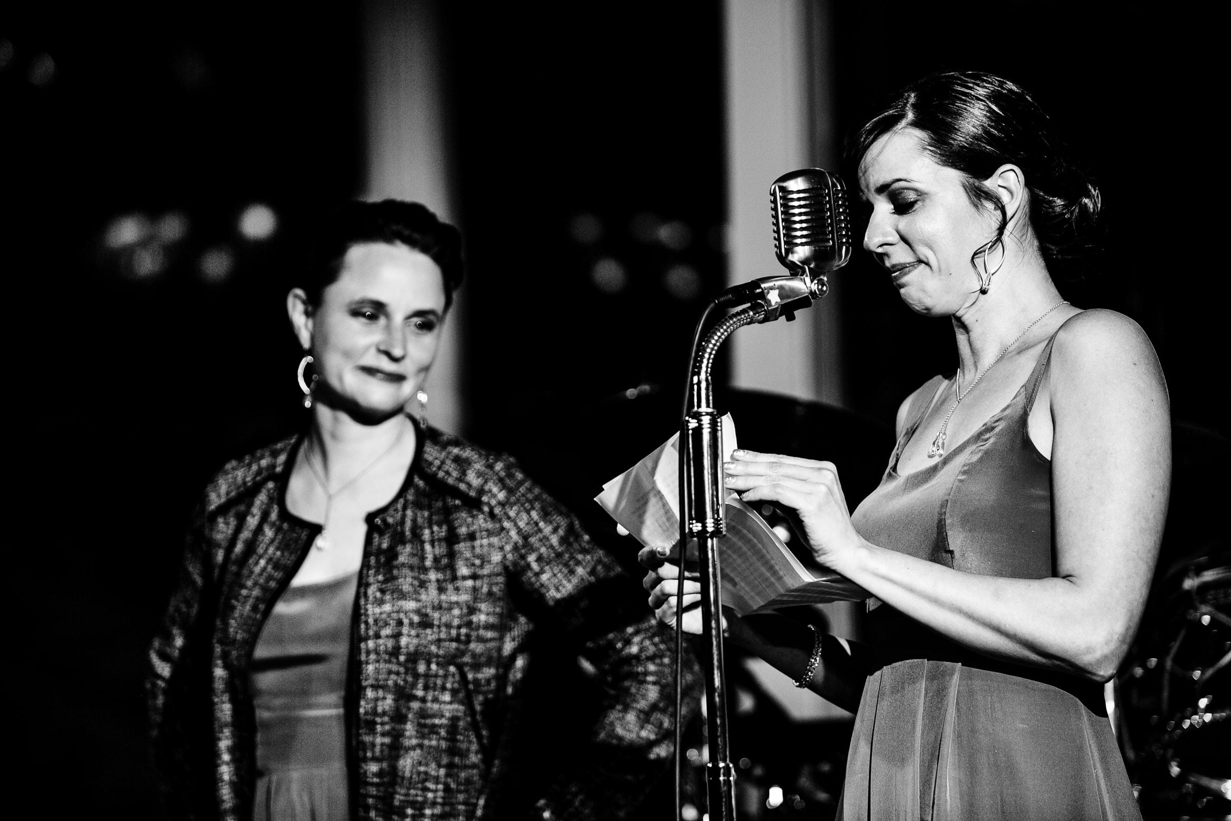Emotional sisters speech during their Waverley Country Club wedding reception