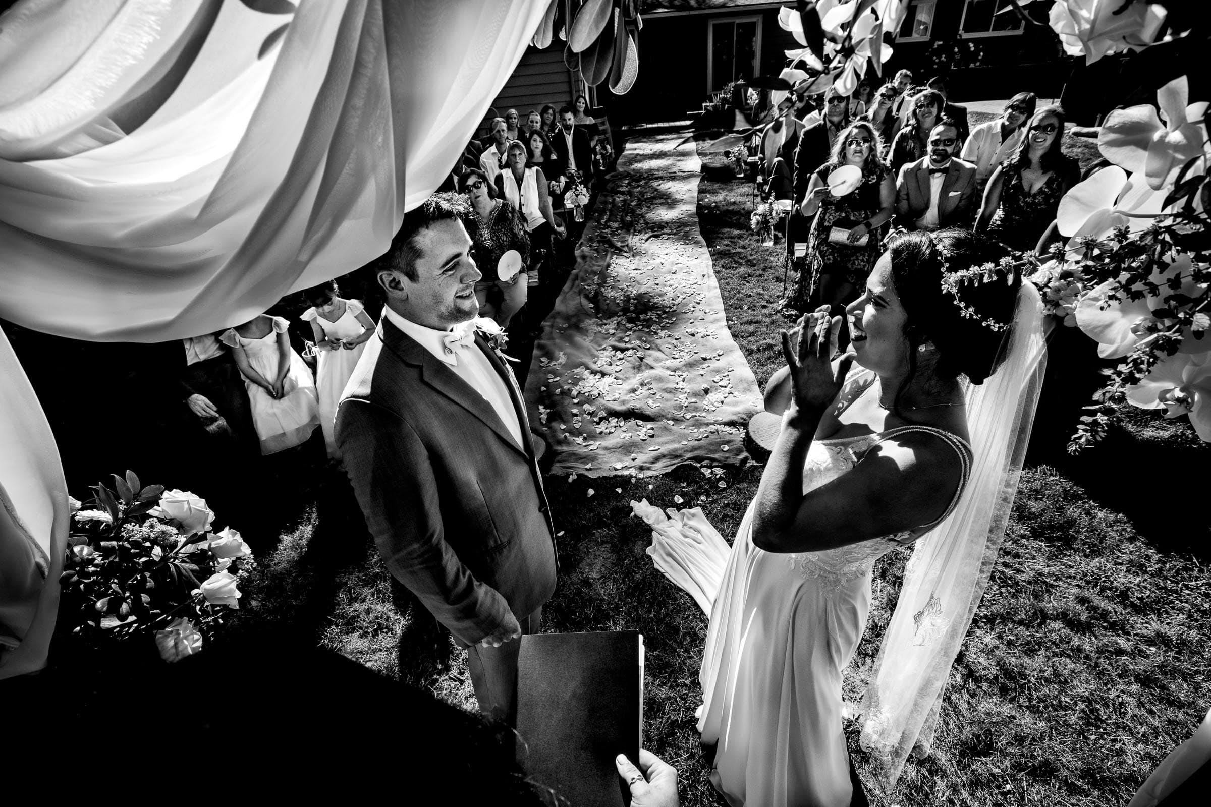Bride and groom emotional moment during their Portland Wedding elopement