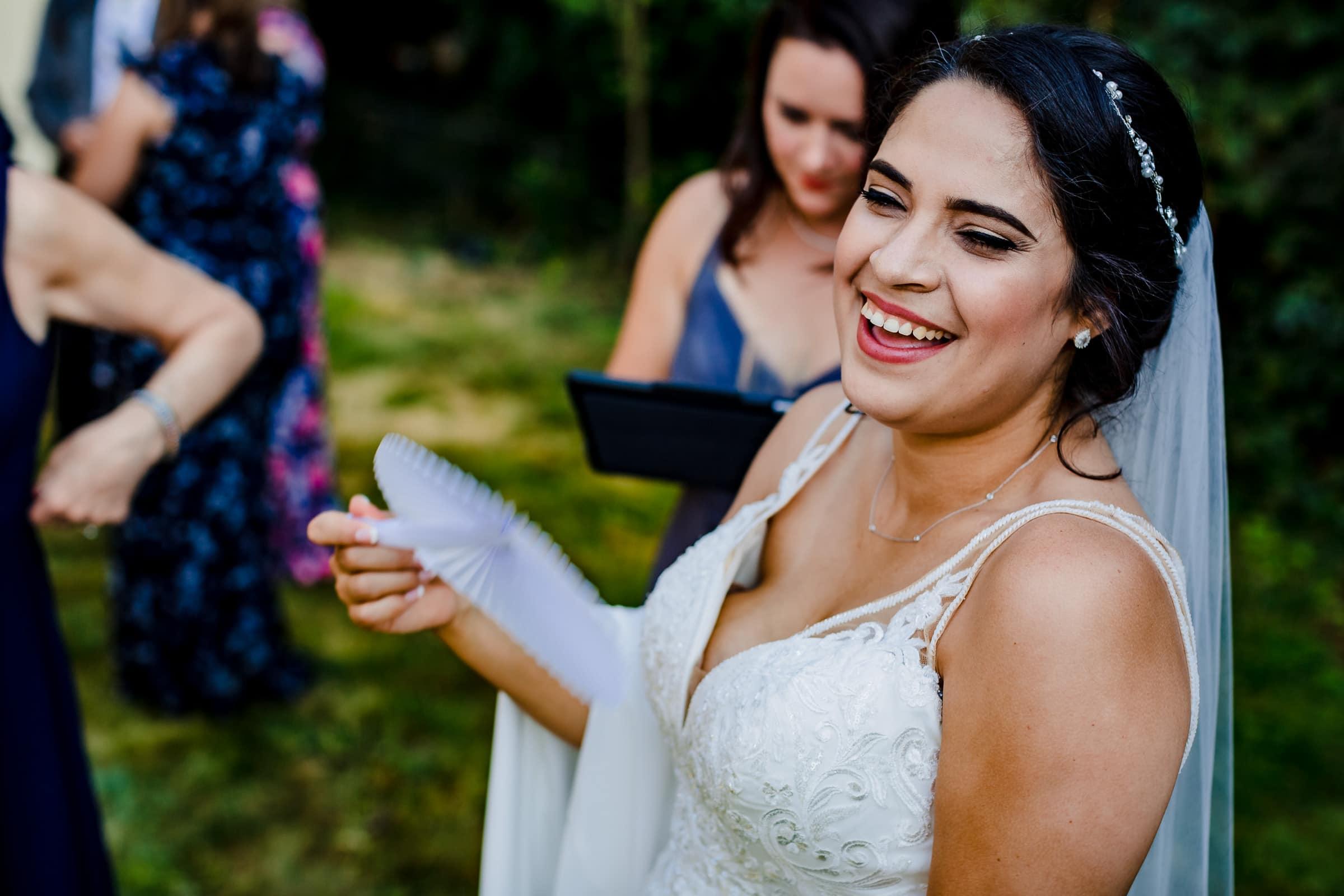 Happy bride during her Portland Wedding elopement