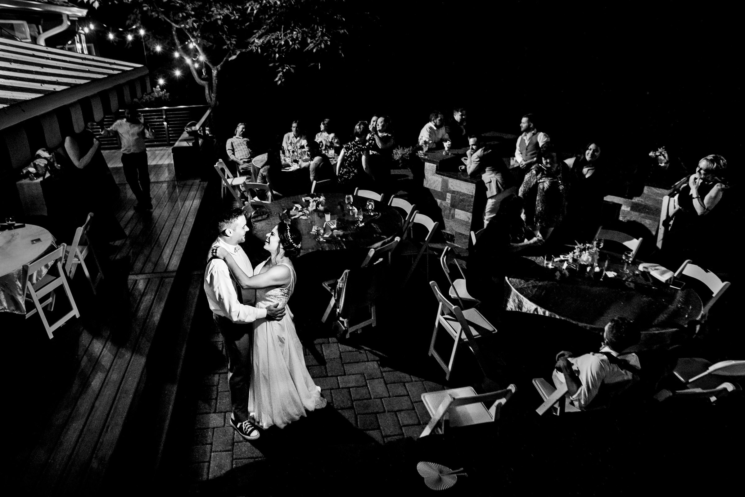 Last dance photo of bride and groom during their Portland Wedding elopement