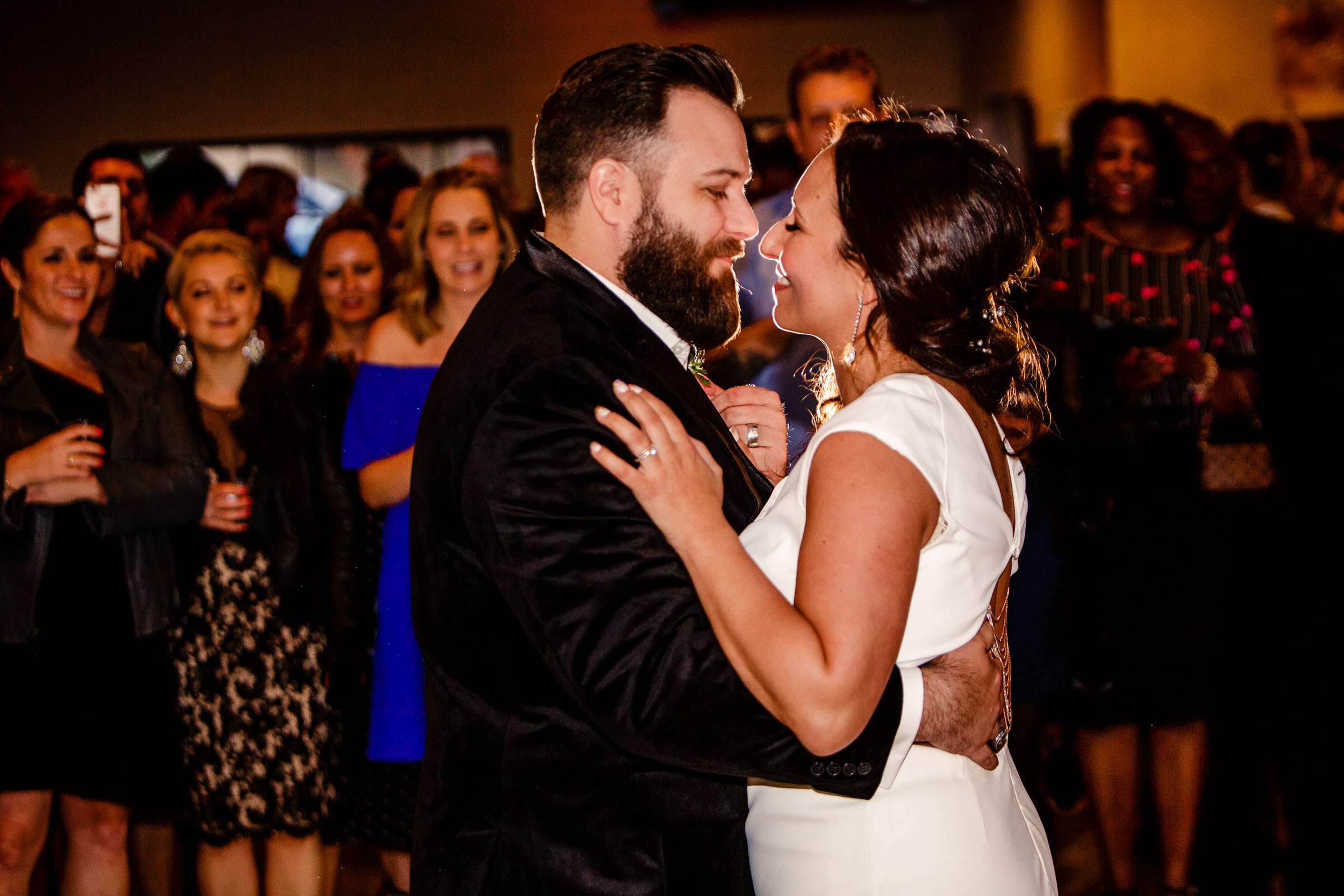 Bride and groom first dance during their Los Angeles Wedding reception