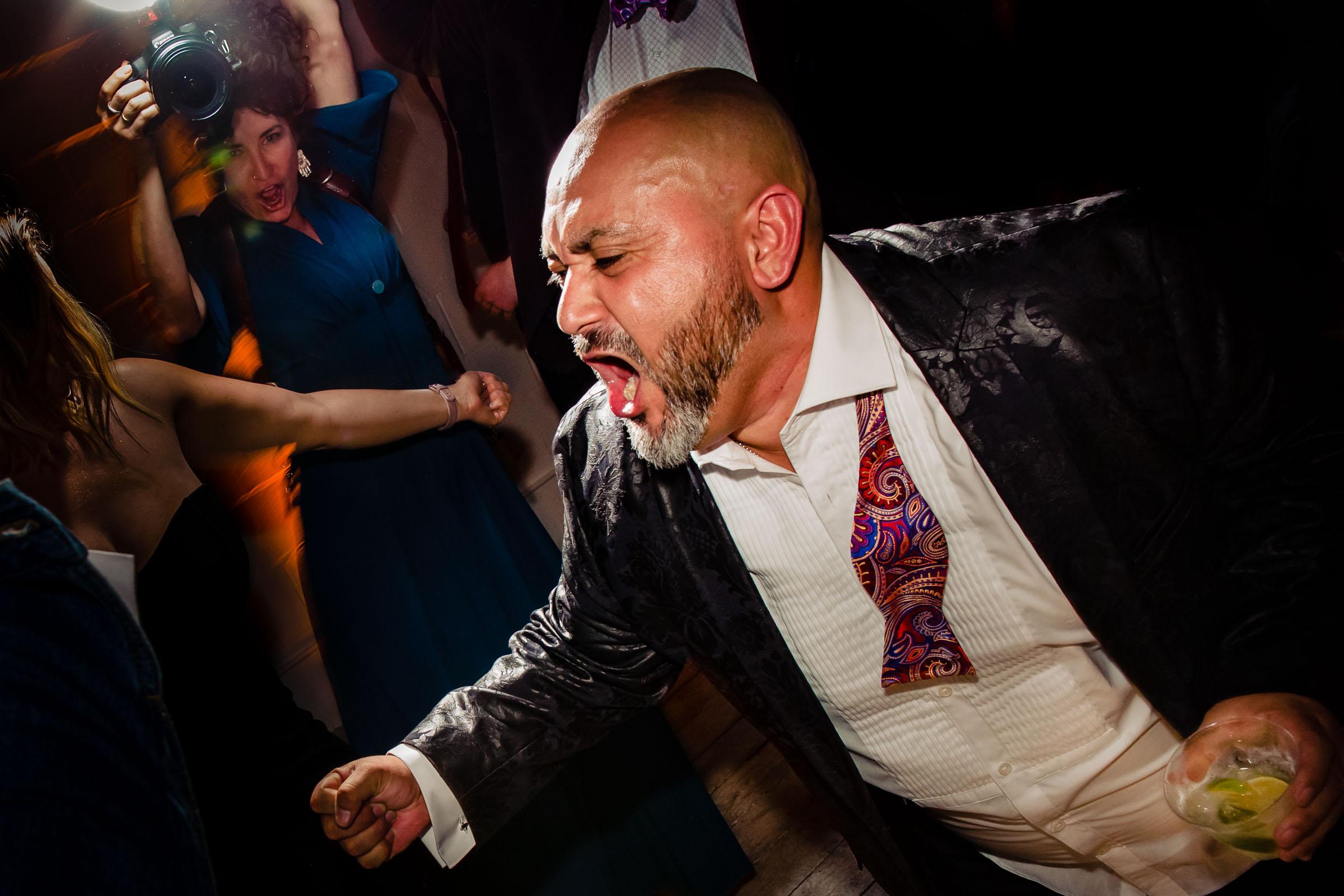 Fun dancing at a Los Angeles Wedding reception in El Segundo, California at Unita.