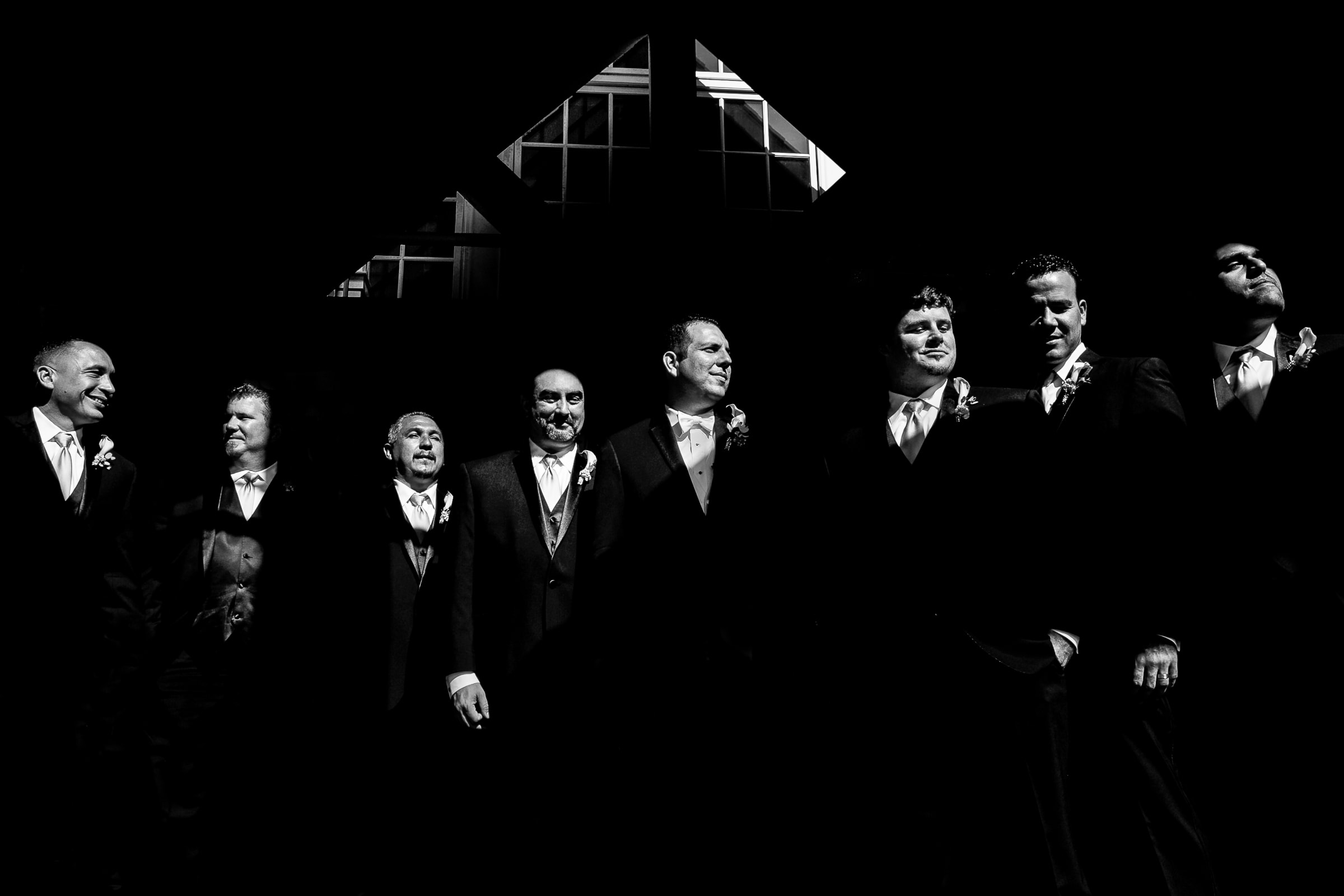 Epic portrait of groomsmen at an Oregon Golf Club wedding in Lake Oswego, Oregon just outside Portland.