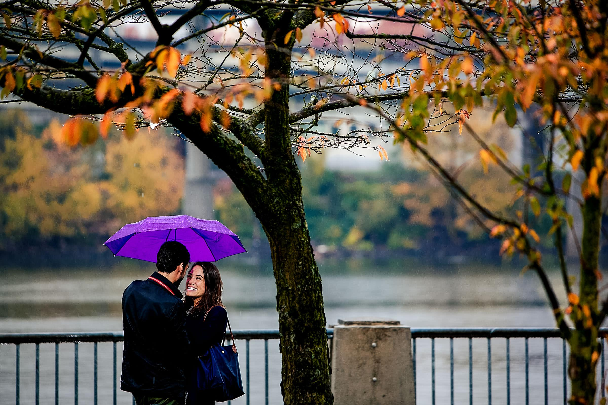 A surprise Portland engagement proposal on the Portland waterfront park
