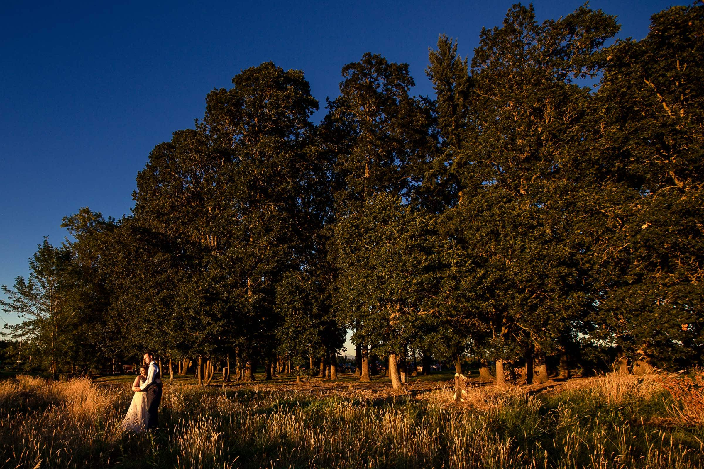 A wide angle view of the gorgeous Postlewait's Country wedding venue located in the heart of the Willamette Valley between Portland and Salem near Aurora, Oregon