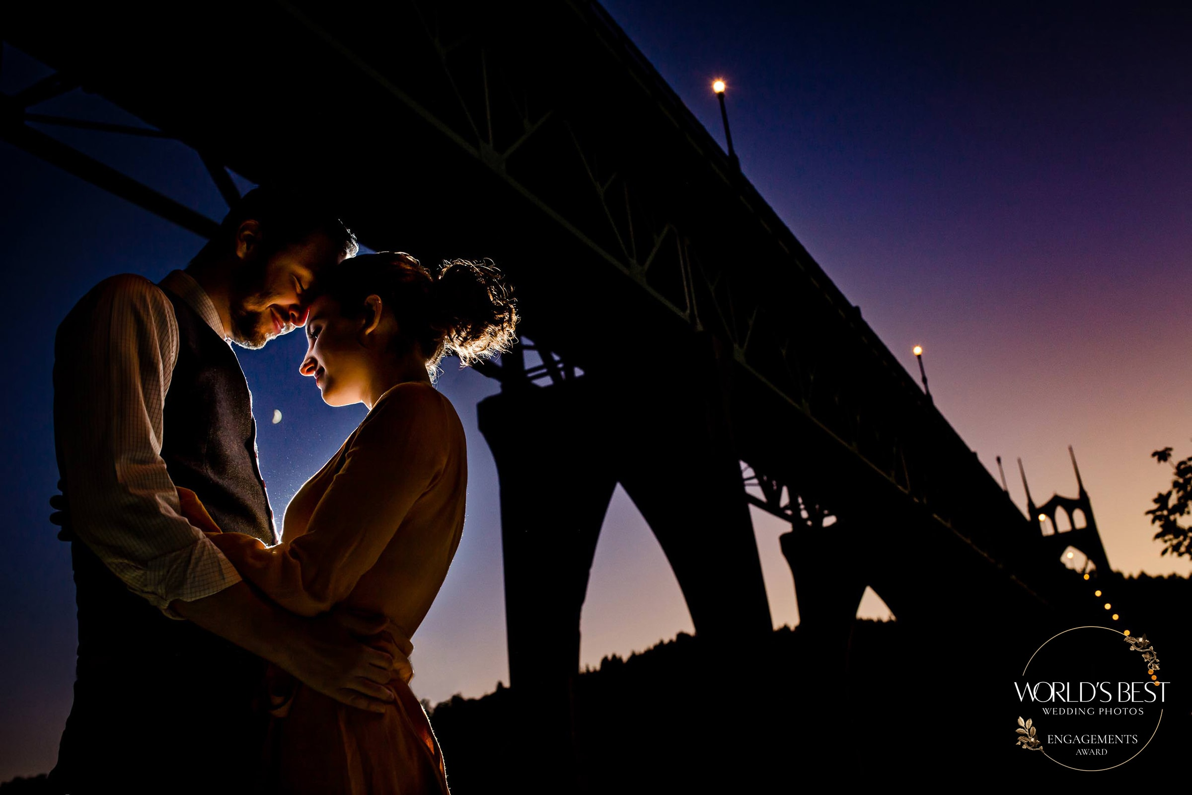 Award winning engagement photo by Worlds Best Wedding Photos for the top 50 all time best engagement photos